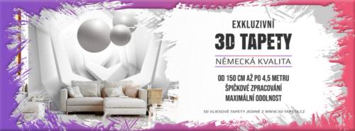 Reklamní banner 3D tapety